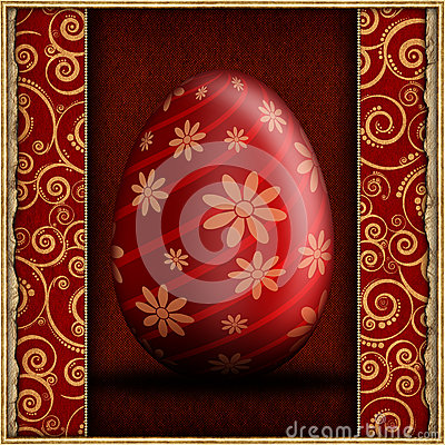 Happy Easter - abstract greeting card