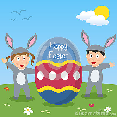 Happy Easter Bunny Kids