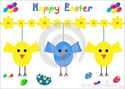 Happy Easter Card Chicks
