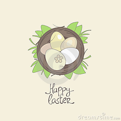 Happy Easter card template.