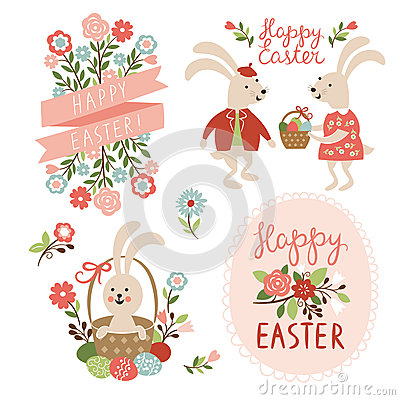 Free Happy Easter Cards Illustration Stock Photography - 37283382