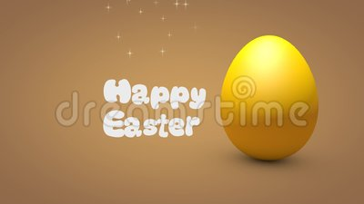 Happy Easter 3d egg animation stock video footage