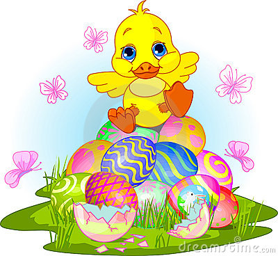 Happy Easter Duckling Royalty Free Stock Photo - Image: 13307635