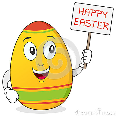 Happy Easter Egg Character