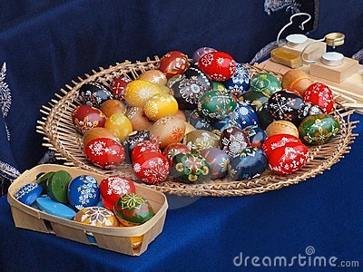 Happy Easter with eggs coming