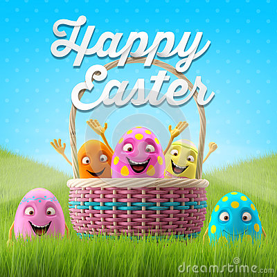 Free Happy Easter Eggs, Merry 3D Set, Spring Series, Happy Cartoon Objects, Easter Banner, Postcard Royalty Free Stock Images - 38359139