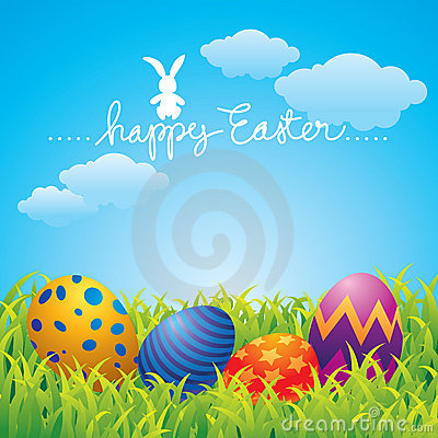 Free Happy Easter Greeting Card Stock Images - 8725014