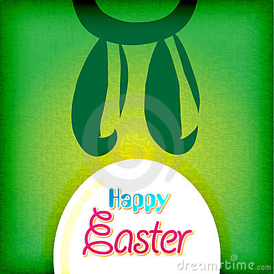 Happy easter greeting card ,  bunny eggs