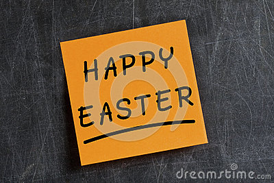 Happy Easter Post-it Blackboard