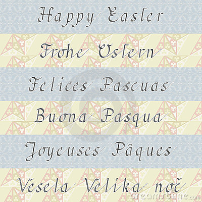 Happy Easter (in six different languages)