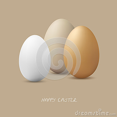 Free Happy Easter - Three Eggs Stock Images - 47276264