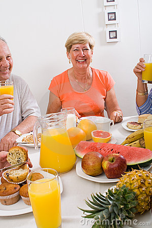 Happy elderly
