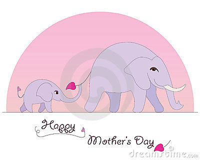 Happy Elephant Mother s Day card