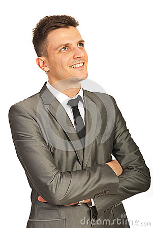 Free Happy Executive Man Looking Up Stock Images - 28134134