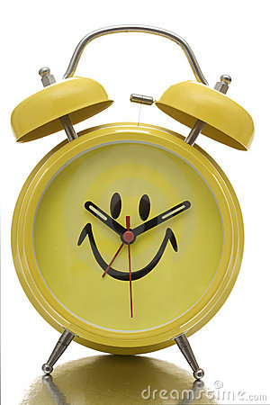 Free Happy Face Clock Royalty Free Stock Images - 3484009