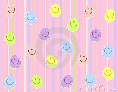 Happy Face Easter Eggs Background