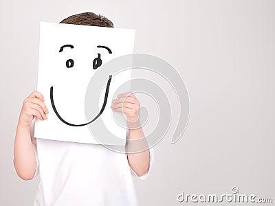Happy Face Paper Boy
