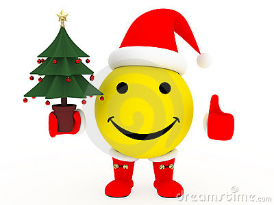 Happy face in Santa s costume