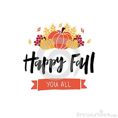 Free Happy Fall Hand Drawn Lettering Text Royalty Free Stock Photography - 130237657