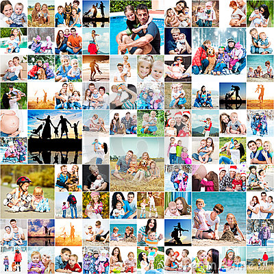 Free Happy Families Royalty Free Stock Photos - 48742018