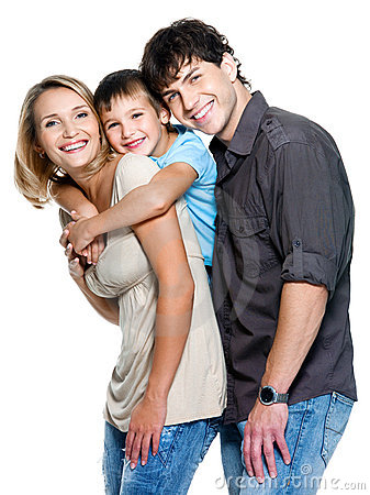 Happy family with child