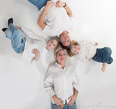Happy family circle