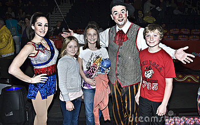 Happy Family at the Circus Editorial Image