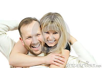 Happy family couple