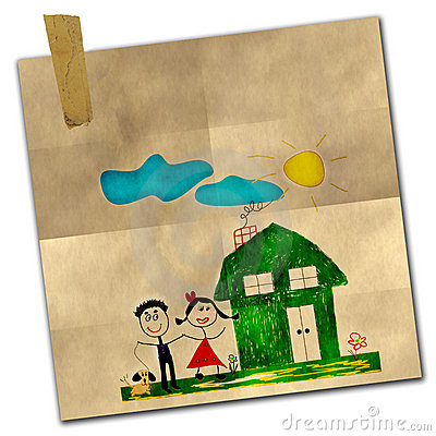 Free Happy Family Drawing Stock Photography - 11457732