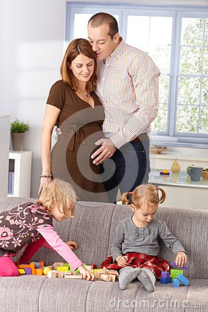 Happy family expecting baby