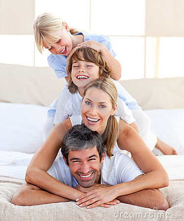Free Happy Family Having Fun Royalty Free Stock Photo - 12810945