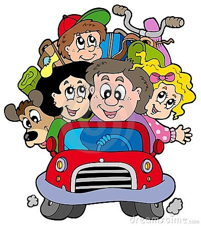 Free Happy Family In Car On Vacation Royalty Free Stock Photos - 13549568