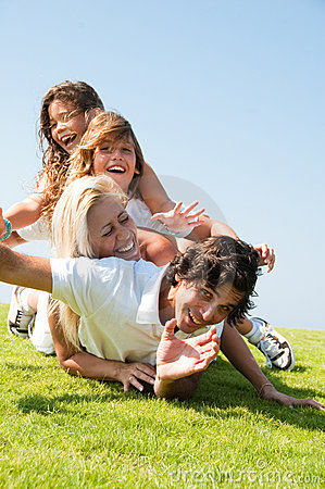 Happy family lie