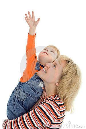 Free Happy Family Mother And Baby Show Hand Up Royalty Free Stock Photos - 3623928