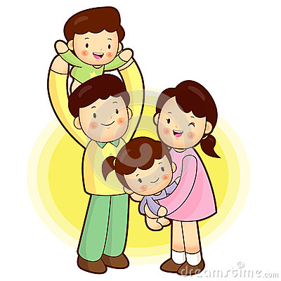 Happy Family outing. Families Character