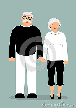 Free Happy Family Seniors: Smiling Elderly Man And Woman Royalty Free Stock Image - 130838356
