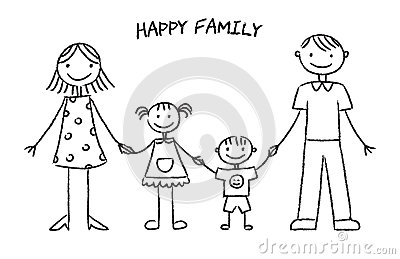 drawing for kids family printable editable blank - Sketch Images For Kids