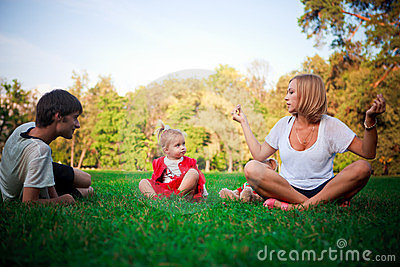 Happy family on vacations