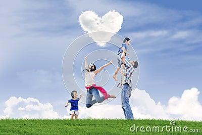 Happy family Valentine s day