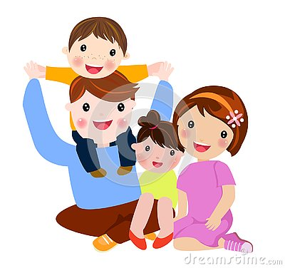 Free Happy Family With Two Children Royalty Free Stock Photo - 125380405