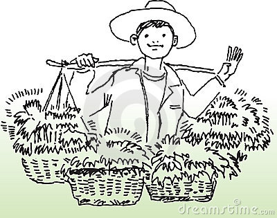 Happy farmer