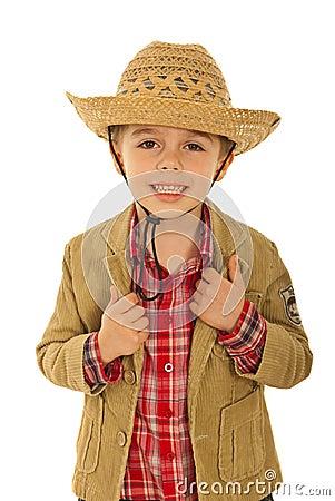 Happy fashion model kid
