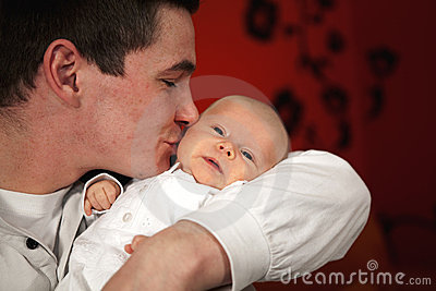 Happy Father Kissing His Daughter Stock Photos - Image: 14307293