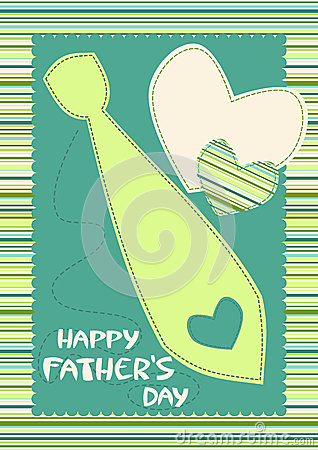 Happy Father s Day Card with Tie