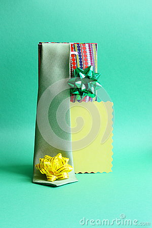 Fathers Day Card and Gifts Tie, Bows - Stock Photo