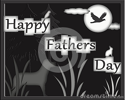 Happy Fathers Day Hunters Greeting Notecard