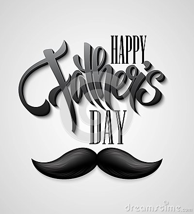 Happy Fathers Day Mustache Card Stock Images Page Everypixel