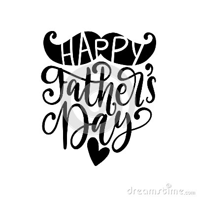 Free Happy Fathers Day, Vector Calligraphy For Greeting Card,festive Poster Etc. Hand Lettering On White Background. Royalty Free Stock Photos - 117046848