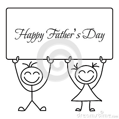 Happy Father's Day Vector Cartoon