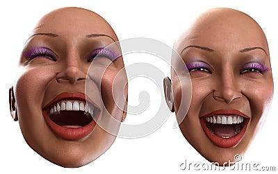 Happy Female Heads